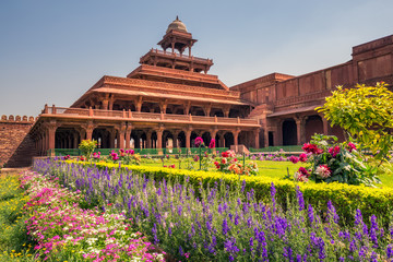 Antient abandoned city of Fatehpur Sikri n the Agra District of Uttar Pradesh, India. Fototapete
