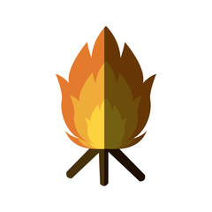 featuring a camp fire burning brightly design