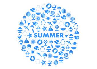 SUMMER 夏イメージ アイコン イラスト