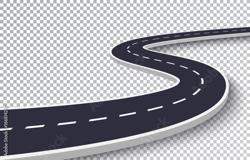 winding road isolated transparent special effect road way location