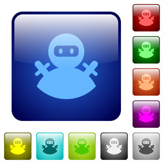 Ninja avatar color square buttons