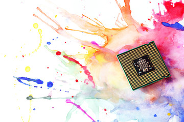 Processor on the paint