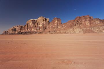 Red desert in Jordan