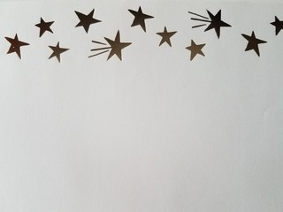 Gold foil shooting stars pattern scrapbook stock paper