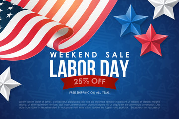 Labor day sale banner design
