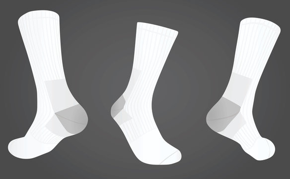 Socks front and back view. vector illustration