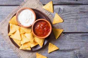 Snack for party chips nachos
