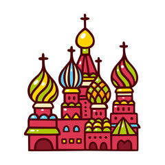 Russia, Moscow Saint Basil cathedral.