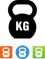 Kettleball KG Weight Icon - Illustration