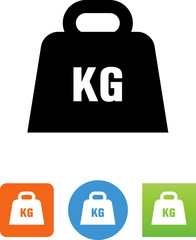 Kilogram Weight Icon - Illustration