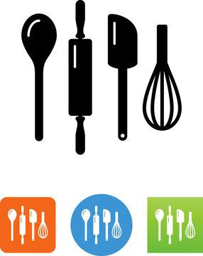 Kitchen Tools Icon - Illustration