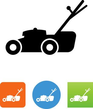 Lawn Mower Icon - Illustration