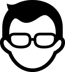 Man Wearing Glasses Icon