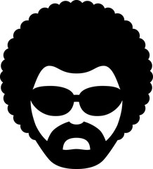 Man With Afro Icon