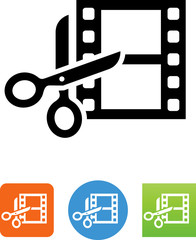Movie Editing Icon - Illustration