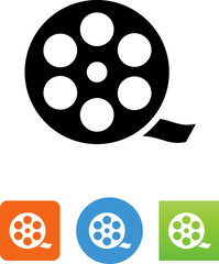 Movie Reel Icon - Illustration