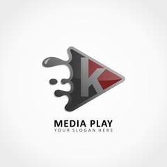 Media Play Application Splash with letter K