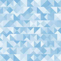 Blue bright abstract triangles background. Vector