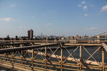 New York: Brooklyn bridge view on the lower East Side