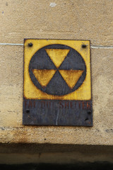 New York: Fallout shelter in the opposite to the United Nations building