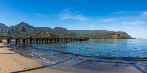 Hanalei Bay Pier Kauai Hawaii