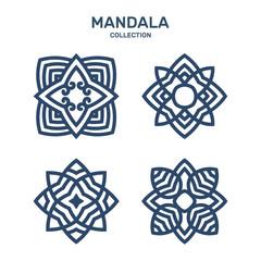 Mandala Logo Collection Set Vector Template
