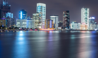 panoramic view of cityscape,midtown skyline,shot in China.