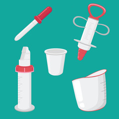 Set Of Medical Tool Graphic Element Design Illustration