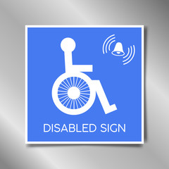 Disabled flat single icon. Vector illustration. Flat