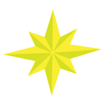 Color vector image of eight-pointed star