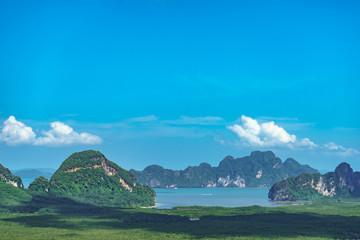 Foto op Aluminium Groene koraal Samet Nangshe Landmark phang-nga,Thailand