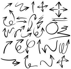 Doodles design for black arrows
