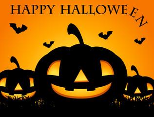 Happy Halloween card with jack-o-lantern