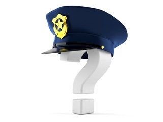 Police hat with question mark