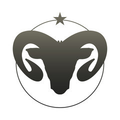 Zodiac Sign. Aries. Vector Illustration