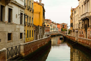 Narrow canal in Venice.