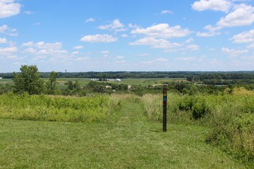 The beautiful view of the countryside at the beginning of the trail.