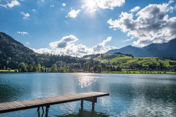The mountain lake in Alps, Austria