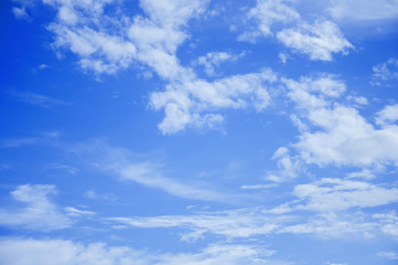 Clear blue sky and clouds background
