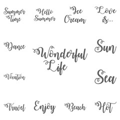 Wonderful life lettering. Hand drawn letters. Modern calligraphy