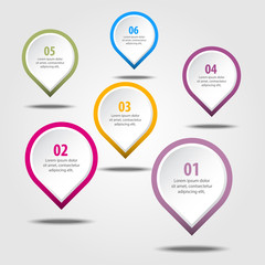 Business Infographics design elements illustration