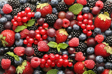Ripe and sweet berries background