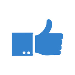 Thumb Up vector icon. Isolated on a background. Like symbol. Vector illustration