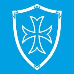 Protective shield icon white