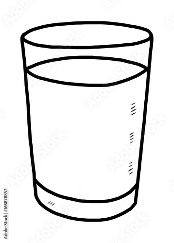 Drawing Water Glass Colouring Pages Sketch Coloring Page