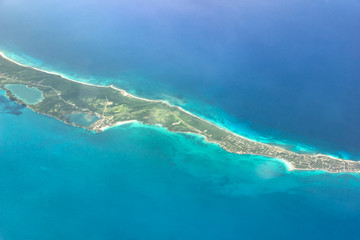 Top View of Bahamas, Paradise Beach