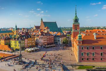 Obraz Warszawa, Plac Zamkowy, stolica Polski - fototapety do salonu