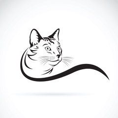 Vector of a cat design on white background. Pet Animal.