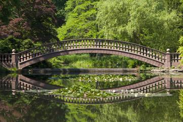 Castle Wolfsgarden garden with Bridge