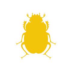 Vector black beetle, egyptian symbol. Lady bug logo template